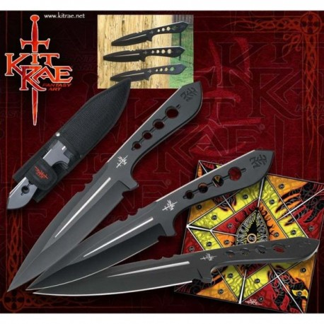 Aircobra Throwing Knives Black by Kit Rae