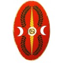 Roman Oval Shield Red