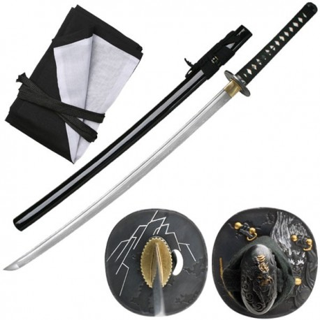 Bushido Raijin Folded Katana Thunder God Black