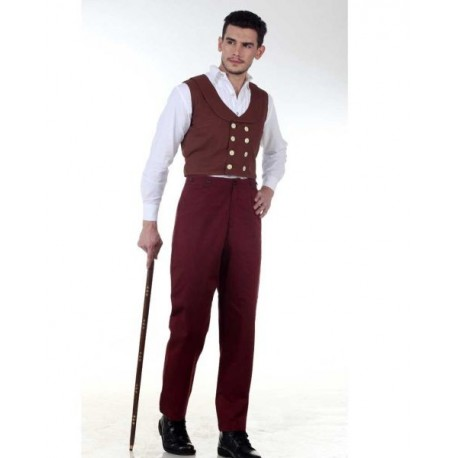 Steampunk Canvas Classic Pants-Maroon