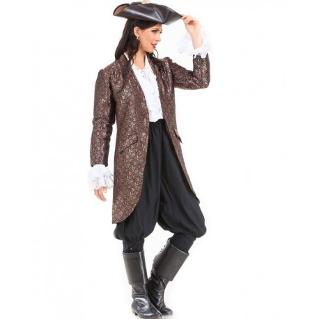 Angelica Brocade Pirate Coat