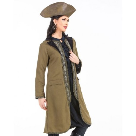 Angelica Suede Pirate Coat
