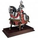 Mounted Spanish Knight of the 16th Century in Suit of Armor
