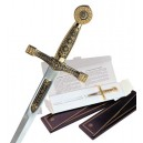 Miniature Damascene Excalibur Sword Letter Opener
