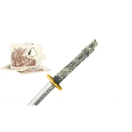 Miniature Highlander Dragon Samurai Katana Sword (Gold)